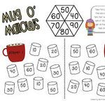 Manic Monday at Classroom Freebies! Winter math game FREEBIE for first grade. Adding decade numbers to 100.
