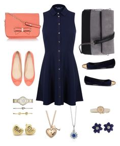 """""""pink and blue"""" by elsahelenacress ❤ liked on Polyvore featuring Miss Selfridge, FOSSIL, DansSara, 7 Chi, Zara, Oasis, Kate Spade, Juicy Couture and BERRICLE"""