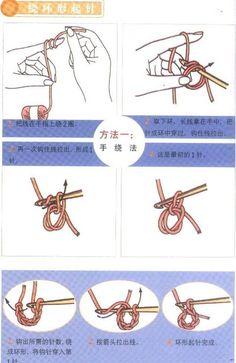 手工DIY 萌物 配饰 酷玩潮物 艺术设计 钩针编织起针法2——绕环形起针法