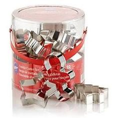 Wilton 18 PC Holiday Metal Cookie Cutter Set Christmas Treat
