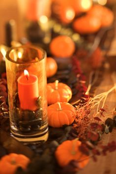 A mantel filled with lighted candles is very dramatic at a Halloween party, or for trick-or-treaters to peek at when you open the door to pass out candy.