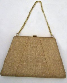 Gorgeous glitzy gold vintage handbag for evenings or by BoxV