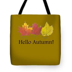 Hello Autumn Tote Bag by Jeff Folger