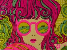 """""""This lady in this illustration from the '60s looks so relaxed and summery and like a watermelon. I want to go to there."""""""