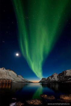 "The Sun, The Moon & The Northern Lights"" photo by Ole Salomonsen, 2008"