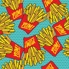 http://www.spoonflower.com/designs/2763346 french fries chips yum pattern mcdonalds AOP surface graphic design    AOP surface graphic design pattern