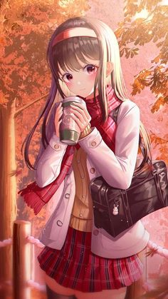 The latest iPhone11, iPhone11 Pro, iPhone 11 Pro Max mobile phone HD wallpapers free download, girl, coffee, autumn, anime, art - Free Wallpaper | Download Free Wallpapers