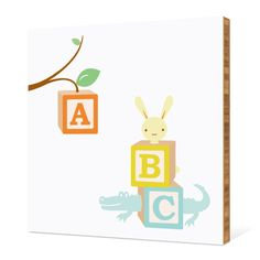ABC Blocks Nursery Bamboo Wall Art by Paper Culture