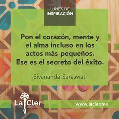 Queremos compartirte un secreto. ¡Buen inicio de semana!l   Facebook: https://www.facebook.com/lacler.mx/   #arte #frases #quotes #lunes #inspiración #exito