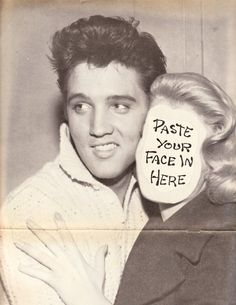 old school Elvis photobomb...LOL...Paste Your Face here