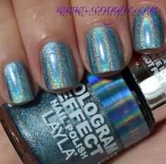 Mermaid Spell Scrangie Layla Hologram Effect Nail Polish Swatches And Review Spells Diy