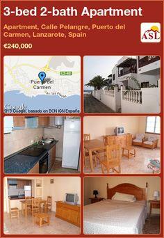 3-bed 2-bath Apartment in Apartment, Calle Pelangre, Puerto del Carmen, Lanzarote, Spain ►€240,000 #PropertyForSaleInSpain