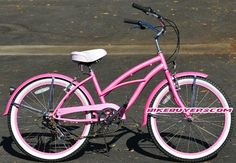 "Micargi Tahiti 7-speed 24"" for Women (Pink), Beach Cruiser Bike Schwinn Nirve Firmstrong Style"
