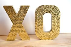 Mini Sequin XO Letters For Wedding or Decor by twistedtwig on Etsy, $32.00