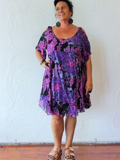 TCD Pop it Dress | Purple silk
