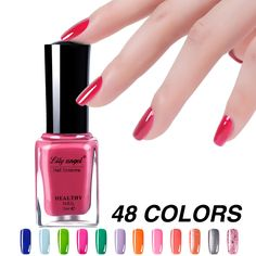 7ml Nail Polish Gel Paint Peelable Water Based Nails Art Glue Quick Drying Beauty Tools 48 Colors * More info could be found at the image url.