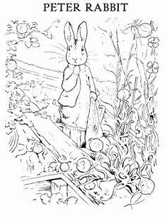 Beatrix Potter: Peter Rabbit Coloring Sheet