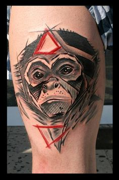 realistic trash polka monkey tattoo tattoo ideas pinterest monkey tattoos trash polka. Black Bedroom Furniture Sets. Home Design Ideas