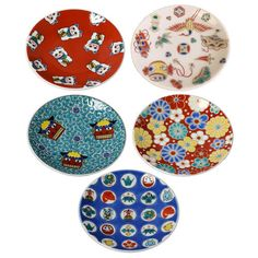 The auspicious Japanese patterns on the plates make them suitable for the New Year celebrations. Ceramic Table, Ceramic Plates, Porcelain Ceramics, Ceramic Pottery, Decorative Plates, Chopstick Rest, Japanese Porcelain, Japanese Patterns, Kintsugi