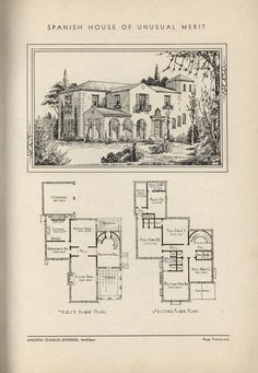 Spanish House of Unusual Merit by Architect Andrew Charles Borzner.    The book of beautiful homes. by Andrew C. Borzner Published 1932    BookReaderImages.php (1213×1755)