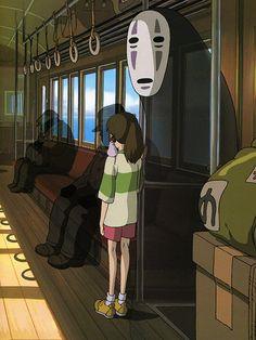 No Face & Chihiro - Spirited Away (Hayao Miyazaki 2001)