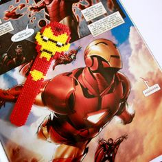 Iron Man  Bookmark hama perler beads