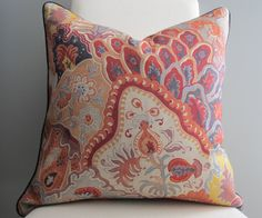 Clarence House Jaipur Pillow 20  Document by GrayBirch on Etsy, $95.00