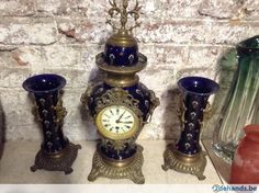 Horloge 3 pièces en faience