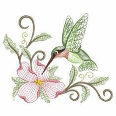Rippled Hummingbirds 15(Sm) machine embroidery designs