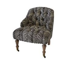 Oomph the Tini Tufted chair in zig zag print