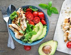 Shawarma Chicken Bowls with Basil-Lemon Vinaigrette