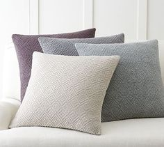 Washed Diamond Pillow Cover #potterybarn