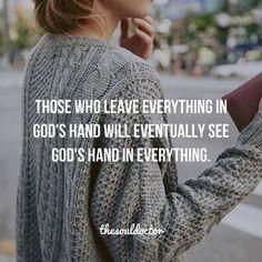 Trusting in Him!