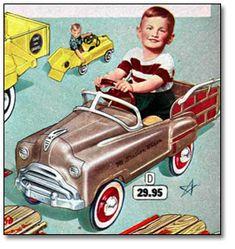 Christmas Catalogue, 1956: Peddle Car #Classic #Car repinned by #carpoos.com