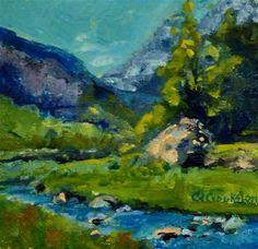 "Daily Paintworks - ""Boulder Stream"" - Original Fine Art for Sale - © Catherine Crookston"