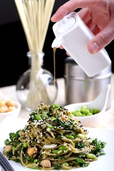 Springtime Green Tea Noodle Salad | OlivesforDinner