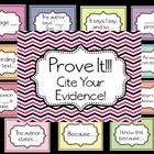 These colorful posters are great visuals for students to use when learning to cite their evidence after reading text to support their answers. The ...