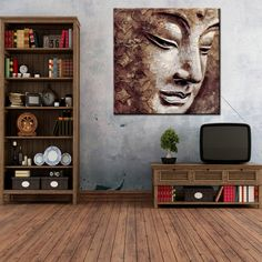 Simple Beautiful Art Canvas Modern Abstract Buddha Painting, View Modern Abstract Buddha Painting, JUJIA Product Details from Hubei Jujia Trade Co., Ltd. on Alibaba.com Buddha Painting, Canvas Art, Wall Art, Abstract, Drawings, Simple, Modern, Peace, Paintings