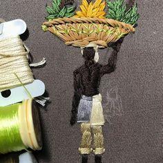 """DETALHE - Estudos e bordados para a cena """"Brasil Colônia"""" - linhas de seda, algodão, ouro e palha da costa #brasil #bordado #bordadodearte #ricamo #broderie #embroidery #embroideryart #design #artisan #atelier #metier #savoirfaire #handmade #handcrafted #handembroidery #madewithlove #craft #textiles #gold #silk #unique #history #designbrasileiro #design #oneofakind #details #detalhes #history #historia #brazil  via ✨ @padgram ✨(http://dl.padgram.com)"""