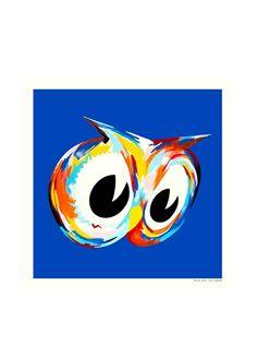 "La La Land ""Blue Owl"" Fluorescent Lithographed Poster, http://www.myhabit.com/redirect/ref=qd_sw_dp_pi_li?url=http%3A%2F%2Fwww.myhabit.com%2Fdp%2FB00HPPNMEO"