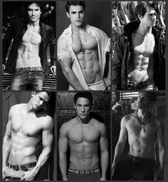 Boy the vampire diaries, Ian somerhalder Paul wesley....