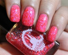 Enchanted Polish Flamingo Freckles over OPI Suzi's Hungary Again :D