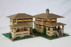 Prairie Style Houses: A LEGO® creation by Kevin Koehler : MOCpages.com