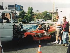 Here's a shot of Paul in the MicRig. This rig was used to get the action shots. We would bolt stripped-down bodies of the cars onto the frame of the t... - Craig Lieberman (@craiglieberman_42)