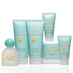 JAFRA Cosmetics Tender Moments Holiday Set includes Tender Moments Baby Cologne, Tender Moments Hair & Body Wash, Tender Moments Baby Massage Cream, Tender Moments Sunscreen SPF 50+ & Tender Moments Bottom Balm