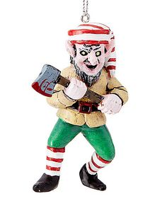 Creepy Elf Christmas Ornament - Spirithalloween.com