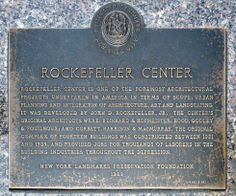 Rockefeller Center is a complex of 19 commercial buildings covering 22 acres between and streets in New York City, United States. Built by the Rockefeller family, it is located in the center of Midtown Manhattan, spanning the area be New York Street, New York City, Empire State Of Mind, New York Hotels, Rockefeller Center, History Photos, Urban Planning, The Originals, Places