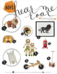 Mom's Best Network: Holiday Gift Guide For The Boys - Charles the Lion in the center!