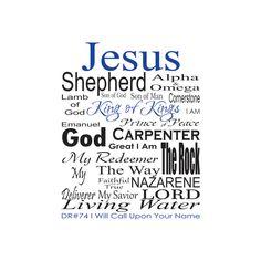 Names of Jesus Custom Order - Scripture Print Digital File - Instant Download - Bible Art - Christian Typography - Christian Print by LoveLineSigns on Etsy