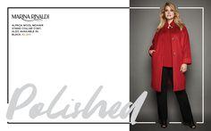 Toni Plus Fall 2016 Lookbook - Marina Rinaldi Red Blazer, Alpaca Wool, Plus Size Fashion, Duster Coat, Autumn Fashion, Curvy, Rocks, How To Wear, Jackets